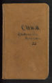 Fieldnotes, various locations, 1892. (Box 2, Folder 10)