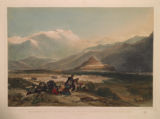 """Bala Hissar and City of Kabul, with the British Cantonments from the """"Ba. Maroo"""" Hill."""