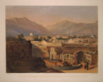"""Interior of the City of Kandahar. From the House of the Sirdar """"Meer Dil Khaun"""" Brother of the King of Cabul."""