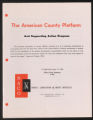 Activities, 1944-1963. Newburgh Plan. Press Releases, Policy Statements and Analysis. (Box 32, Folder 1)