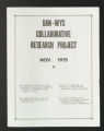 Committee, Program, and Conference Files. National Conference of Black and Non-White YMCA Laymen and Staff (BAN-WYS): Reports and conference materials, 1969-1978. (Box 6, Folder 5)