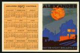 Alexander 1917 calendar : Alexander : day or night regardless