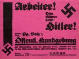 Arbeiter! Dein Fuhrer hei?t Hitler! Hieruber spricht Pg. Volz in der Offentl. Kundgebung