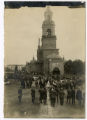 Crowd in front of church