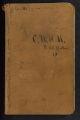 Field notes on trip on Wisconsin River from Rhinelander to Stevens Point, 1888, Minnesota in 1889. (Box 2, Folder 8)