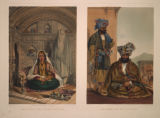 Ladies of Cabul in their In and Out-of-Door Costume./ Gool Mahommed Khaun King of the Chilqies