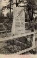 Les hautes vosges - Col. du Bonhomme : tombe elevee avec l'ancienne Borne Fronteere