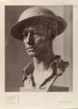A British eighth army soldier, bronze head by Jo Davidson