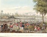 The attack upon the stockades near Rangoon by Sir Archibald Campbell, K.C.B. on the 28th of May, 1824.