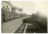 Czechoslovak Legion troops awaiting the arrival of General Karel Elias