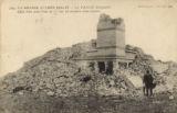 204. La Grande Guerre 1914-1917 -- La Panne (Belgique) : effet d'un seul obus de 75 sur la maison d'un espion