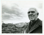 Dr. Edward W. Davis in front of the Taconite Processing Plant, Silver Bay, Minnesota