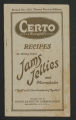 """Certo (Surejell) recipes for making perfect jams, jellies and marmalades : """"""""the world's new standard of quality."""""""""""