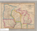 Map of the north-western states including Minnesota and the copper region of Lake Superior