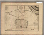 A plan of Pondicherry and its environs taken from a French manuscript.