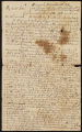 Letter from the Revd. Samuel Peters to Robert McLenehan, including a copy of a deed dated 1 October 1812 selling the land to Samuel Peters.
