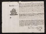 Receipt of chest from Viceroy of Peru., 179?.