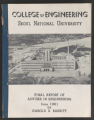 College of Engineering Seoul National University: Final Report on Adviser in Engineering by Harold E. Babbitt, 1961 (Box 64, Folder 26)