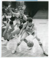 Bulldogs basketball players in action during game