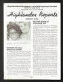 Highlander Folk School. Highlander Reports. (Box 1, Folder 4)